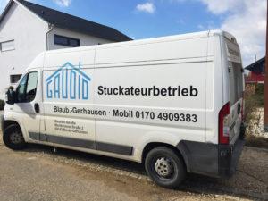 Gaudio Stuckateur Firmenfahrzeug